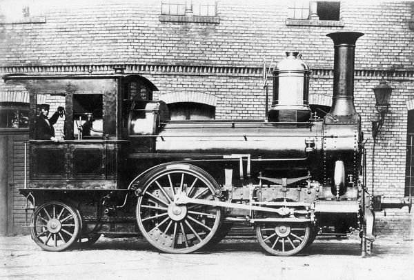 circa 1860: A German steam engine designed by August Borsig of Berlin. (Photo by Hulton Archive/Getty Images)