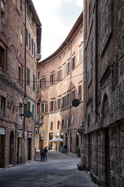 Curvy Street. Curvy street and renaissance architecture in Siena, Tuscany, Italy