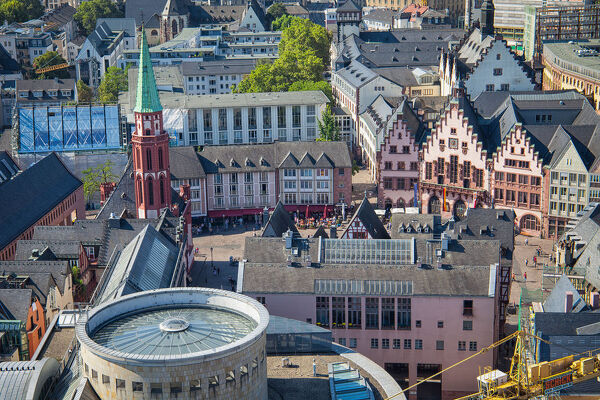 Frankfurt Old Town. Panorama of Frankfurt Historic Old Town