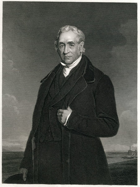 Engraving From 1873 Featuring The English Engineer Known For His Improvement Of The Railways, George Stephenson. Stephenson Lived From 1781 Until 1848