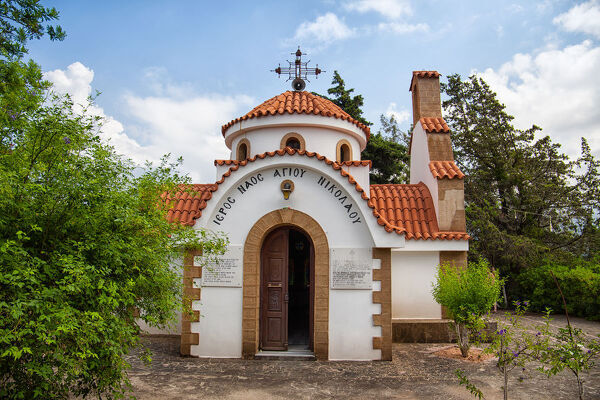 Small chapel of Saint Nikola near Embonas on southern part of Rhodos Island,Greece