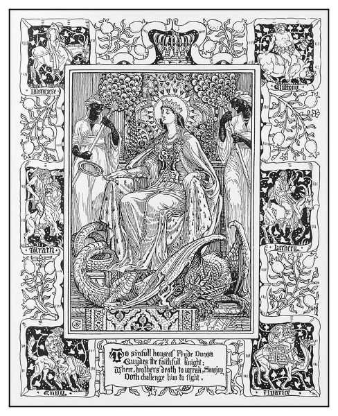Antique illustration by Walter Crane