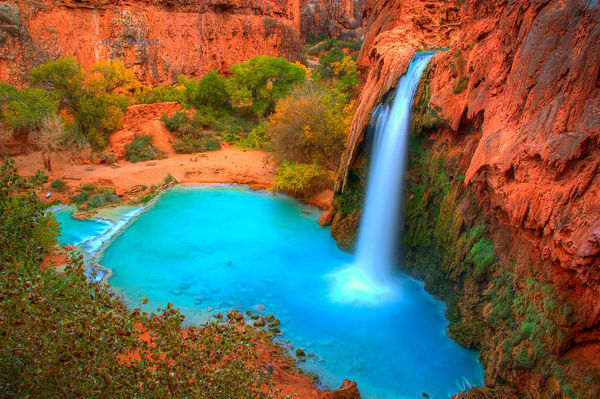 Havana falls in Havasupai Indian reservation, Arizona