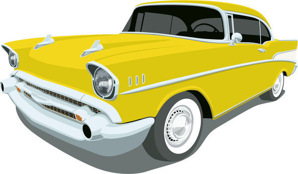 Chevrolet1957 Bel Air Angle View Classic Yellow 1957 Chevy Bel