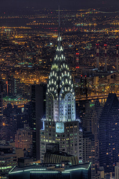 Chrysler Building at night, US