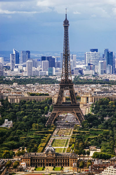 Eiffel Tower and La Defense, Paris, France