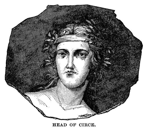 Head of Circe - Scanned 1882 Engraving
