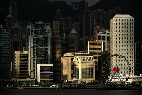 HongKong skyline at victoria habour