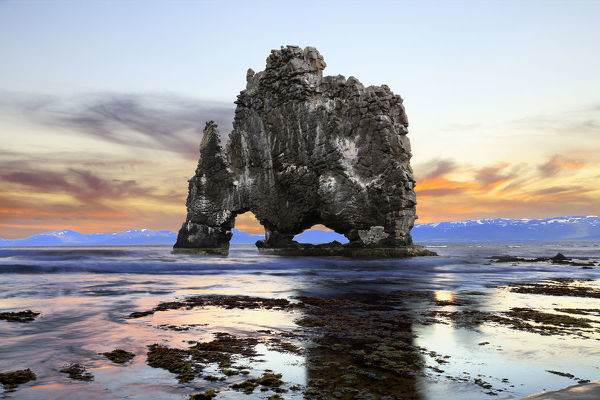 HvA­tserkur Rock. HvA?tserkur Rock seascape taken in Iceland during sunset