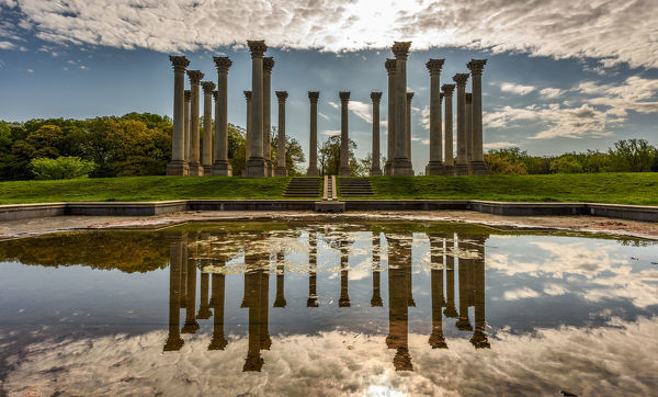 Lost in Time. The National Capitol Columns at the National Arboretum in Washington, DC