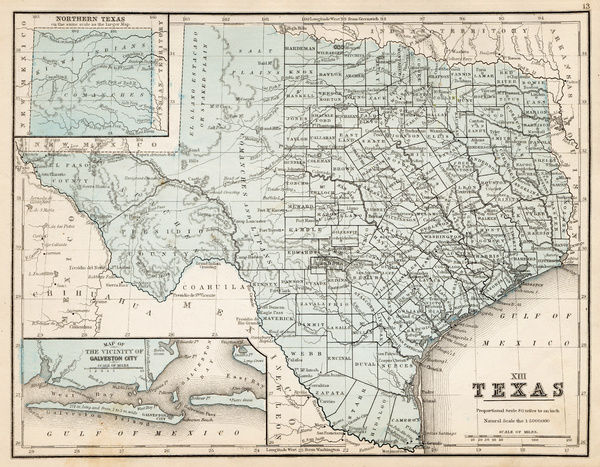 Map of texas 1867 mitchells modern atlas published by e photo map of texas 1867 mitchells modern atlas published by eh gumiabroncs Image collections