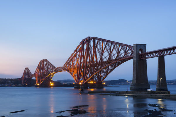 The Mighty Forth Rail Bridge at dusk
