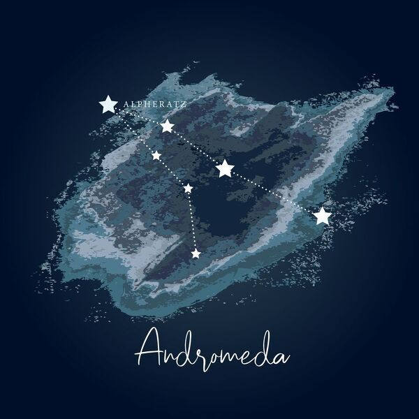 Modern Night Sky Constellation - Andromeda