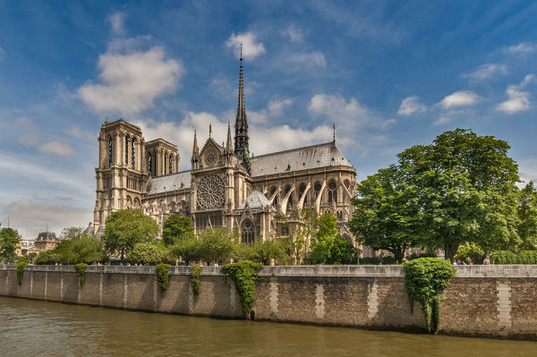Notre-Dame Cathedral in the spring,Paris,France
