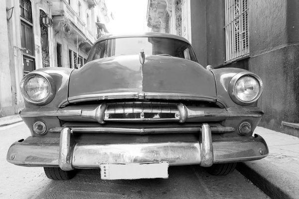 Old american car on beautiful street of Havana, Cuba