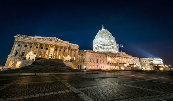 A blue hour shot of the U.S. Congress Building