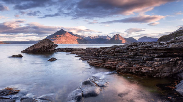 A view of Soay from the shore at Elgol, Isle of Skye, Highlands, Scotland, UK