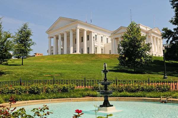 The Virginia State Capitol Building in Richmond, Virginia