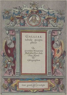 Frontispiece of book , Galliae Tabule Geographicae