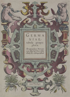 Frontispiece of book , Germaniae Tabule Geographicae