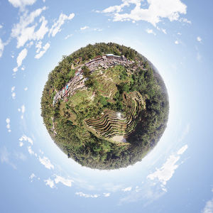 360° Aerial Little of Bali's Scenic Rural Landscapes