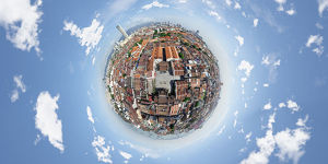 360° Aerial View of Penang Island, Malaysia