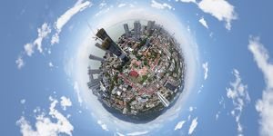360° Aerial View of Penang, Malaysia