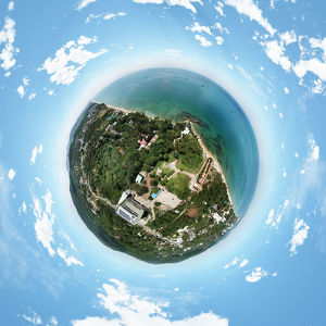 360-degree Little Planet of Phu Quoc Island, Vietnam