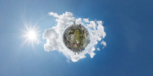 The 360-degree Little Planet View of Singapore