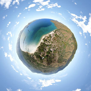 360° Little Planet of Komodo National Park, Indonesia