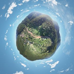 360A° View above Mountains in Chiang Mai, Thailand