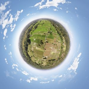 360° View above the Rice Paddies in Bali, Indonesia