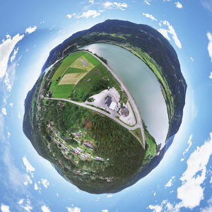 360A° Aerial Panorama of Favang, Norway