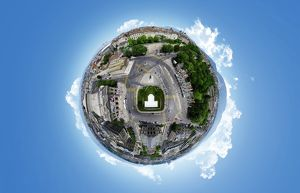360A° Aerial Panorama of Geneva