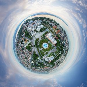 360A° Aerial Panorama of Istanbul, Turkey