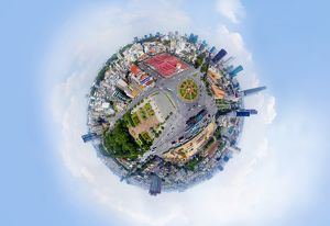 360A° Aerial View of Saigon