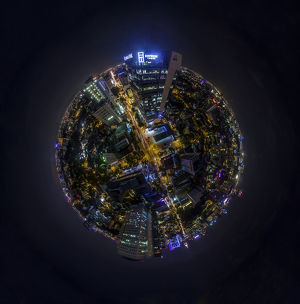 360A° Night View of Ho Chi Minh City, Vietnam