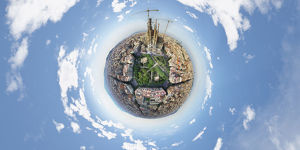 360A° Panorama of Sagrada Familia, Spain