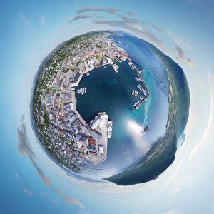 360A° Panorama of Tromso, Norway