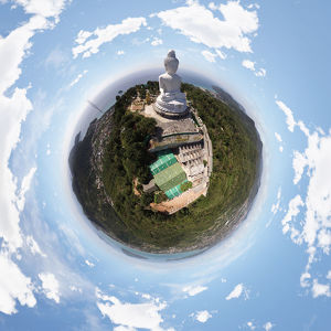360A° View above the Big Buddha Phuket in Thailand