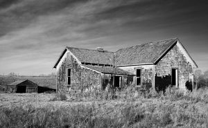 An abandoned farmhouse in rural Alberta, Canada.