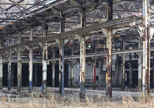 Abandoned rail yard