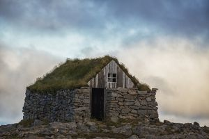 Abandoned rock and stone house in rural Iceland