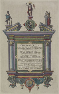 Frontispiece of book by Abraham Ortelius
