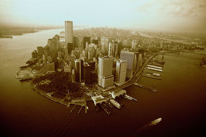 AERIAL VIEW OF NEW YORK CITY,
