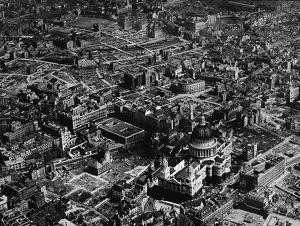 Aerial View Of St. Paul's Cathedral After The Blitz