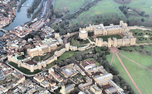 Aerial View of Windsor Castle