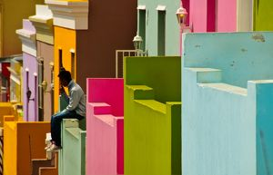 Houses in Bo-Kaap, Cape Town, South Africa
