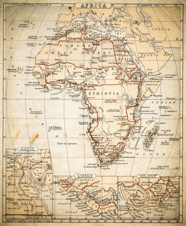 Africa map of 1869