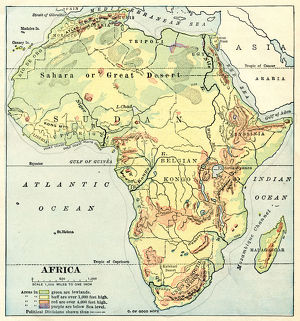 Africa map 1892